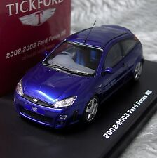 1:43 IXO Premium-X Tickford Ford Focus RS Mk1 2002-2003 Blue RHD RS Owners Club