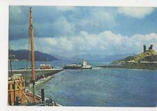 Ferry & Castle Moil Kyleakin Isle Of Skye 1968 Postcard 206b