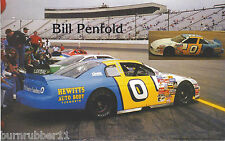 """1999 BILL PENFOLD """"HEWITTS AUTO BODY"""" #0 NASCAR BUSCH NORTH LM SERIES POSTCARD"""