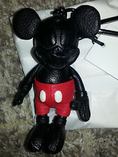 "DISNEY X COACH 5"" Small LEATHER MICKEY MOUSE DOLL Keychain BAG CHARM Limited Ed"