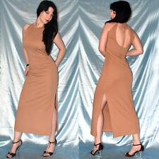 tiefer Rücken im STRETCHKLEID* M 40/42 * braunes Abendkleid* Cocktailkleid weich