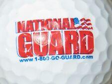 (1) NATIONAL GUARD 1-800-GO-GUARD.COM  LOGO GOLF BALL