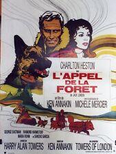 """""""L'APPEL DE LA FORÊT (CALL OF THE WILD)"""" Affiche originale (Charlton HESTON)"""