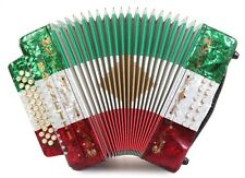 Rossetti 3112 GCF Sol 31 Button Diatonic Accordion - Red White Green + Case