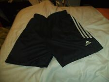 """T1 Mens Adidas Vintage polyester unlined football Sports Shorts D6 M 34"""" Black 2"""
