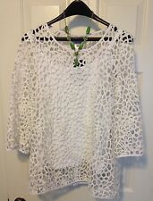 $388 GORGEOUS! NWT Blair Stanley Floral Lace Cage Tunic Cover Up Boho Coachella