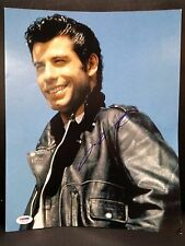 JOHN TRAVOLTA GREASE SIGNED 11X14 PHOTO PSA