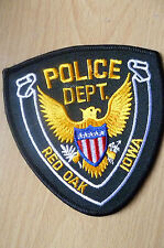 Patches- RED OAK IOWA USA POLICE DEPT PATCH (NEW* apx.10x9.5cm)