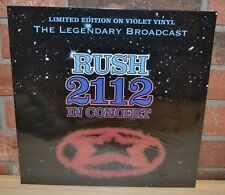RUSH - 2112 in Concert Limited/500 Import VIOLET COLORED VINYL New & Sealed!