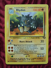 1999 Pokemon Trading Card Rhydon 45/64 Jungle Collection