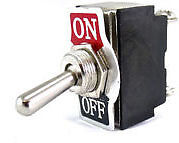 On Off Toggle Flick Truncheon Lever Switch 12 volt 24 volt Double Pole UK SELLER