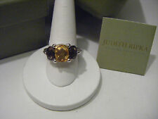 JUDITH RIPKA CITRINE AND SMOKY QUARTS RING GORGEOUS!! SIZE 10