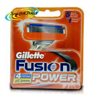 Gillette Fusion Power Replacement Blades Pack of 4 Cartridges For Shaving