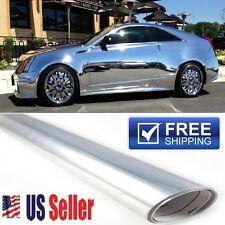"72""x60"" Chrome/Silver Vinyl Wrap Protector Film DIY Sticker ""AIR BUBBLE FREE"""