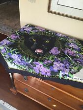 GIVENCHY BLACK PANTHER GARLAND SILK SCARF EXCELLENT!!