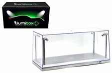 CLEAR DISPLAY SHOW CASE FOR 1/18 SILVER BASE with REPLACEABLE LED LIGHTS