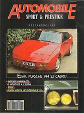 AUTOMOBILE SPORT & PRESTIGE 6 PORSCHE 944 S2 CAB LANCIA DELTA HF INTEGRALE 16V