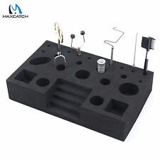 Fly Tying Tool Caddy Black Foam Vise Clamp Tool Holder Fishing Fly Tying Station