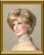 OOP Franklin Mint Diana 4strand Pearl necklace earrings fit 15-16 in dolls