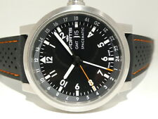 FORTIS GMT SPACEMATIC BOX+PAPERS FLIEGER SELTENES GLASBODEN-RARE DISPLAY BACK