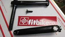 FIT INDENT 3pc bike cranks BLACK BMX BIKE CRANK 19mm 8spline 170mm Cr-mo SE NEW