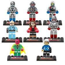 Lot of 8 The Avengers Age of Ultron Superheroes Minifigures Building Blocks Toys