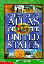 Scholastic Atlas of the United States by David Rubel (2000, Hardcover) Like New!