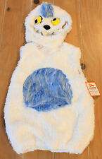 New Pottery Barn Kids ABOMINABLE SNOWMAN Yeti Costume Kids Size 2T-3T