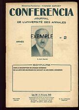 CONFERENCIA - PARIS - DANUBE - OTHELLO - MME CAMPAN