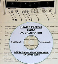 HP Hewlett Packard 6921A AC Calibrator  Operating & Service Manual
