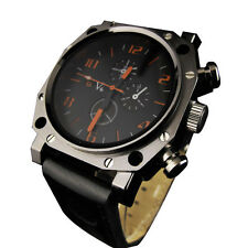 V-6 U boat Military Jumbo Stylish Face 48mm Quartz Watch Men Wristwatch BL NEW