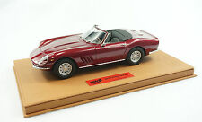 1/18 BBR FERRARI 275 GTS/4 N.A.R.T MET RED BROWN DELUXE LEATHER LE 2 PIECE MR