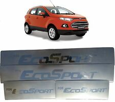 Premium Stainless Steel Door Sill Scuff Plates Footstep Ford Ecosport - Set of 4