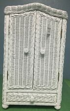 White Rattan Closet for  American Girl Dolls To Storage Clothes