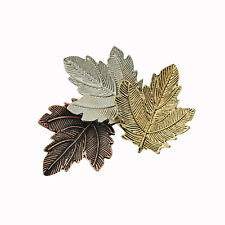 Classic Tricolor Maple Leaf Retro Brooch Pin Lapel Party Wedding Corsage Pin