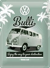 VW Retro Bulli Old Volkswagen Camper Van Garage Large 3D Metal Embossed Sign