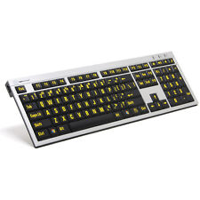LogicKeyboard Large Print Yellow on Black Keyboard