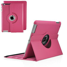 360 Degree Rotating PU Leather Case Cover Swivel Stand For Apple iPad 2/3/4
