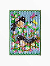 Spring Chickadees Beaded Banner Pattern