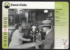 COCA-COLA Soft Drink Soda Fountain GROLIER STORY OF AMERICA PICTURE HISTORY CARD