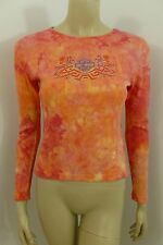 Harley-Davidson Multi-color Long Sleeve Top Blouse Woman Size S