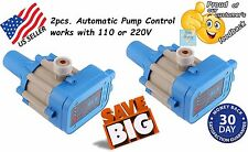 LOT of 2 Automatic Electronic Control Water Pump Pressure Controller 110 or 220V