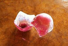 FUSED GLASS ART Pink White Silver Crinkle Shard Aphrodite Collection SC