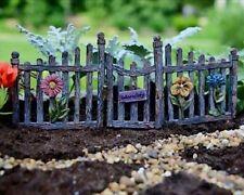 "* Fence and Gate *  Miniature Fairy Garden Dollhouse 9"" in Length!"