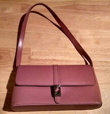 Rose Pink Mauve Guess Handbag Baguette Black Interior Lining New Without Tags