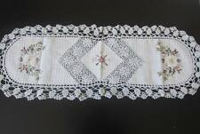 "16"" x 45""  BEIGE  Crochet Lace Table Runner COLOR BEIGE 100 % COTTON"