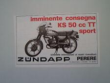 advertising Pubblicità 1977 MOTO ZUNDAPP KS 50 TT SPORT