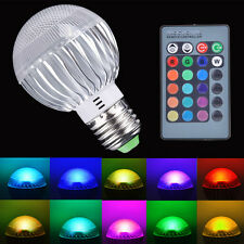 9w Color Changing LED Light Bulb Dimmable RGB Remote Control Lamp E27 Lamp