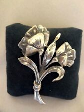 Lovely Old DANECRAFT Sterling Floral Bouquet Brooch