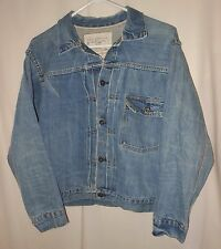 LEVI'S TRUCKER JACKET 1ST EDITION REISSUE BUCKLE BACK WESTERN JEAN JACKET SZ 36